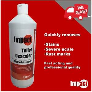 Acidic Toilet Cleaner strong acid descaler removes stains scale urinals 1 litre