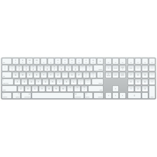 ORIGINAL OEM Apple Magic Keyboard with Numeric Keypad Wireless Silver W/ Cable