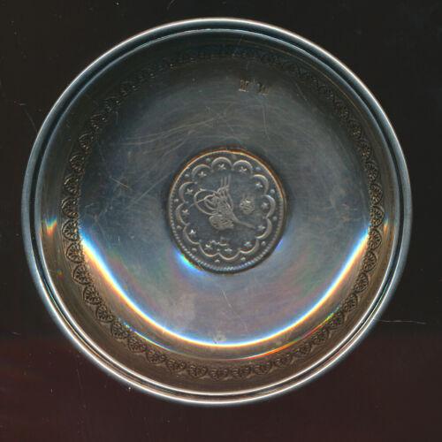 TURKEY VINTAGE 10 KORUSH COIN - K738 IN CANDY SILVER DISH