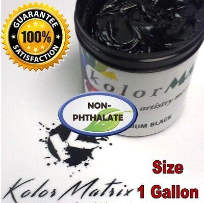 Gen Premium Midnight Black Plastisol Screenprint Ink - Non Phthalate Gallon