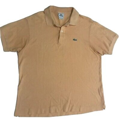 Lacoste Polo Shirt Short Sleeve Mens size M 5 Regular Solid Yellow