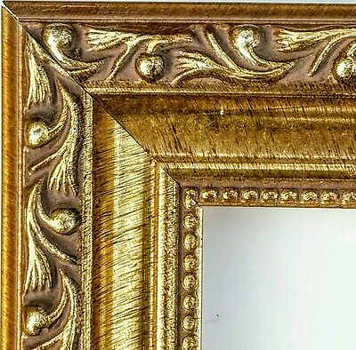 ☆SALE☆ 36 ft~ Ornate Gold Picture Frame Moulding, Antique, WOOD, Beaded, Molding