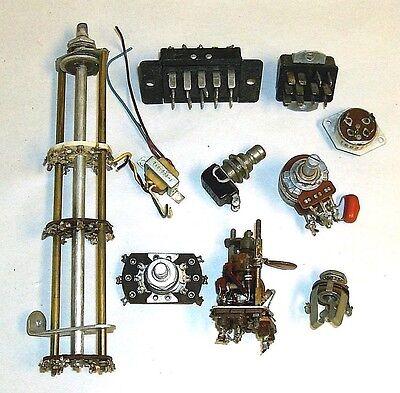 Vintage Lot Switches Connectors Mini Transformer Potentiometer Broadcast Parts