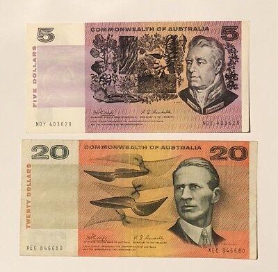 Australian early Decimal Bank Notes prior 1973