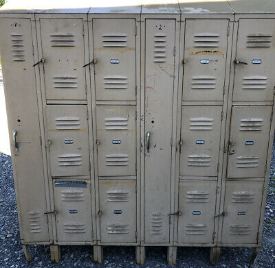 Vintage Lockers Cube And Long Double Sided Gym Lockers