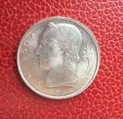 Belgique - Superbe monnaie de 5 Francs 1950 VL