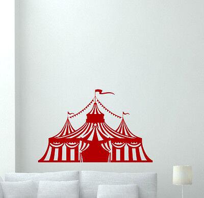 Circus Tent Wall Decal Nursery Decor Kids Vinyl Sticker Art Poster Mural 264xxx - Kids Circus Tent