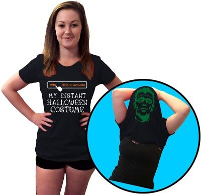 Slide to Activate Halloween Costume Funny Rude Flip Over Mens T-Shirt 10 - Halloween Over Funny
