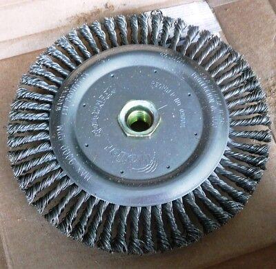 Weiler Roughneck 3a201a Steel 6-78 Knot Wheel Brush Made Usa