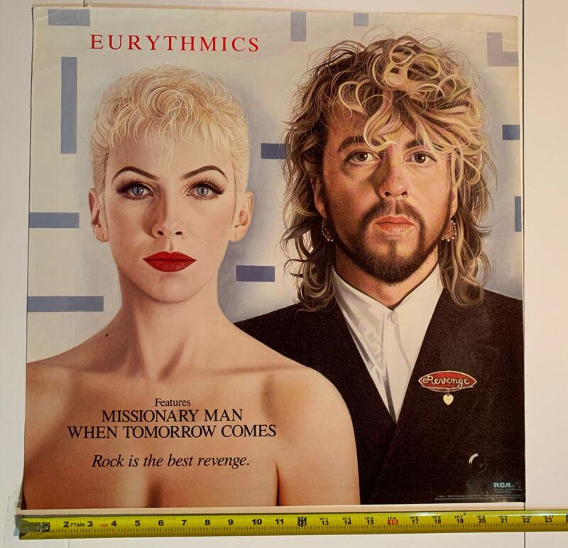 "EURYTHMICS ANNIE LENNOX REVENGE 1986 ORIGINAL PROMO POSTER (22"" X 22"") Vintage"