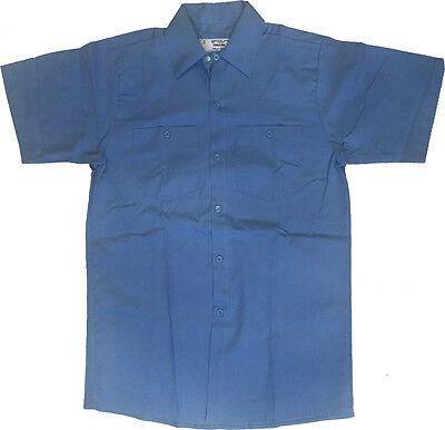 100% Cotton Uniform (NEW! Industrial Work Uniform Shirt 100% Cotton - Light Blue )