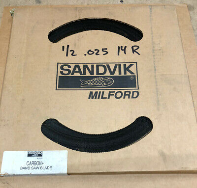 Sandvik Milford Band Saw Blade Coil 12 X .025 X 14t Made In Usanew Old Stock