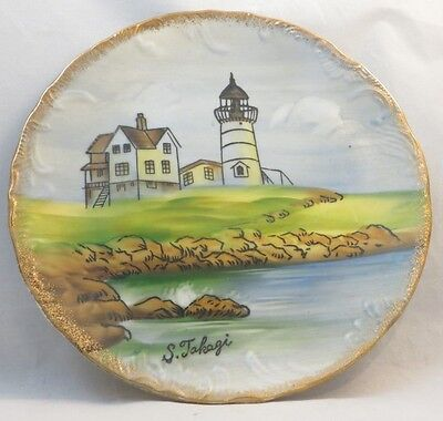 Landscape Plate Decoration Ensco Brand Plate Home Decor Hand Painted And Signed