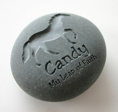 Horse Pet Memorial Custom Engraved Memorial Stone Pet Loss Personalized Pony - CA$42.00