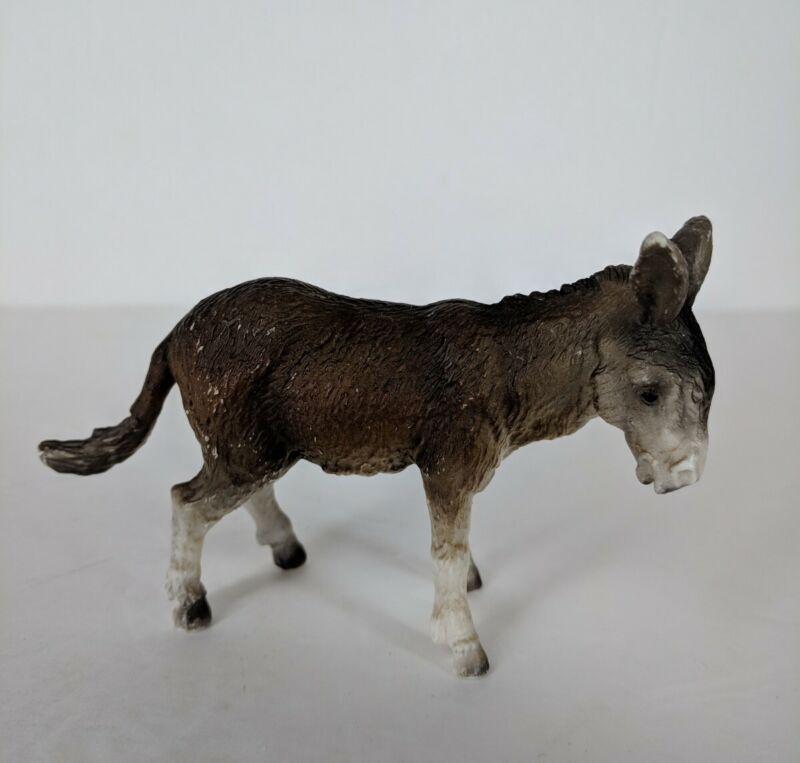 Vtg 1989 Schleich Donkey Figure Germany Brown