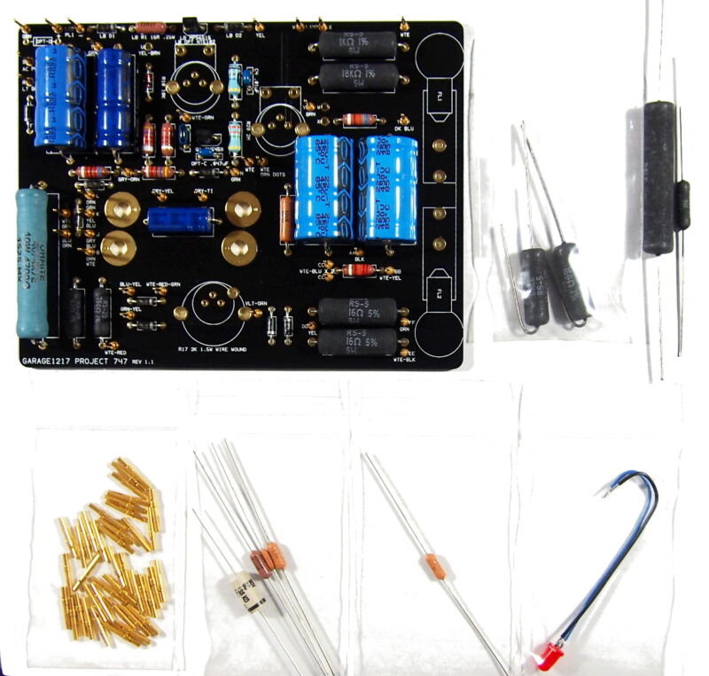 B&K 747 B TUBE TESTER REPLACEMENT PCB / FULL RESTORATION PARTS SET