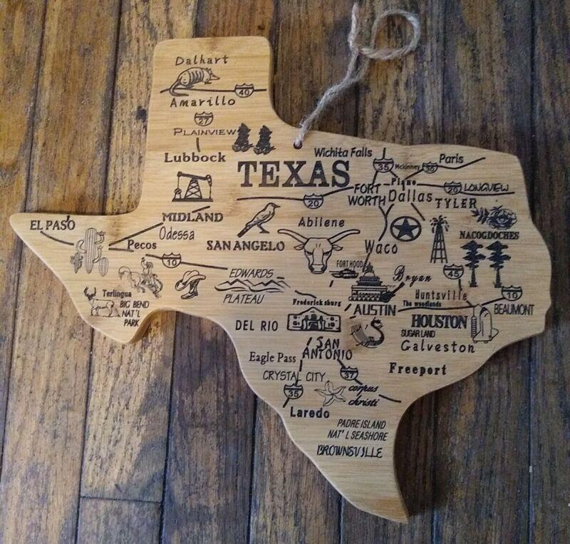 Texas Bamboo Style Wall Hanging Cutting Board