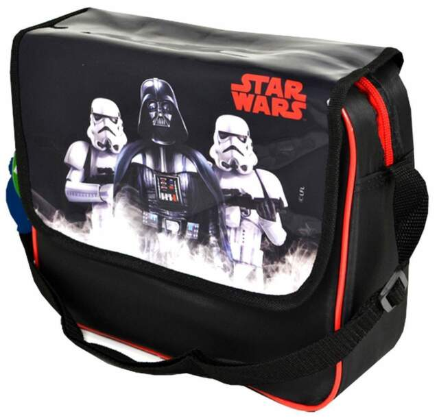NEW OFFICIAL STAR WARS INSULATED LUNCH BOX BAG SATCHEL DARTH VADER RRP £14.99