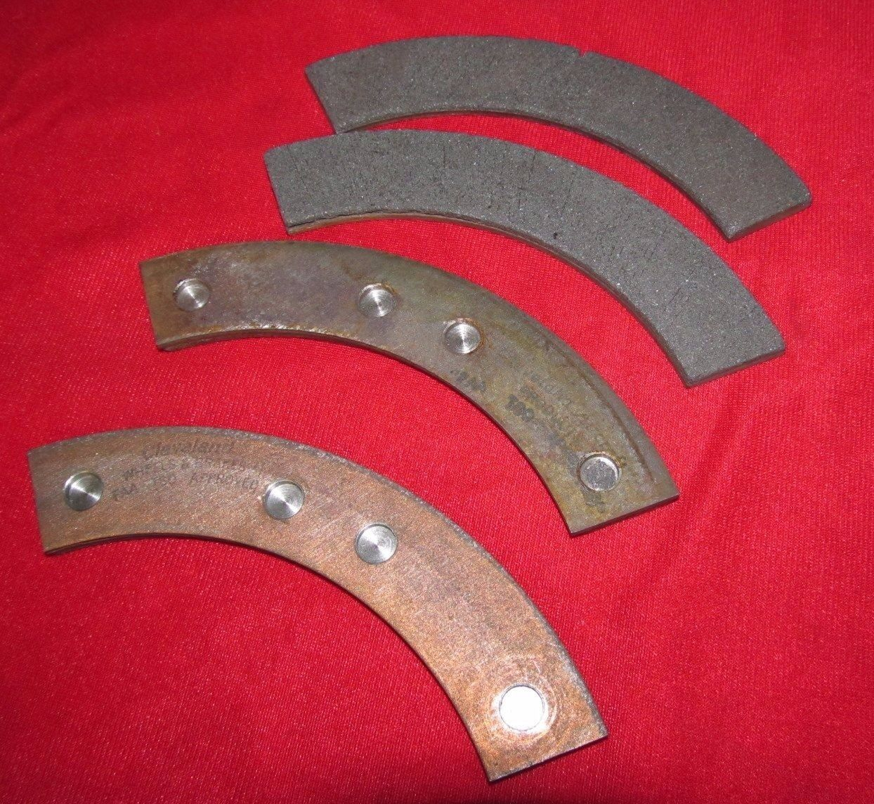 Pack of 4 each, Cleveland Parker Brake Linings Pads P/N 66-15 (Airborne 448)