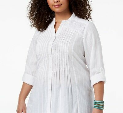 (Style & Co Plus Size Crochet Trim Tunic, Size 3X)