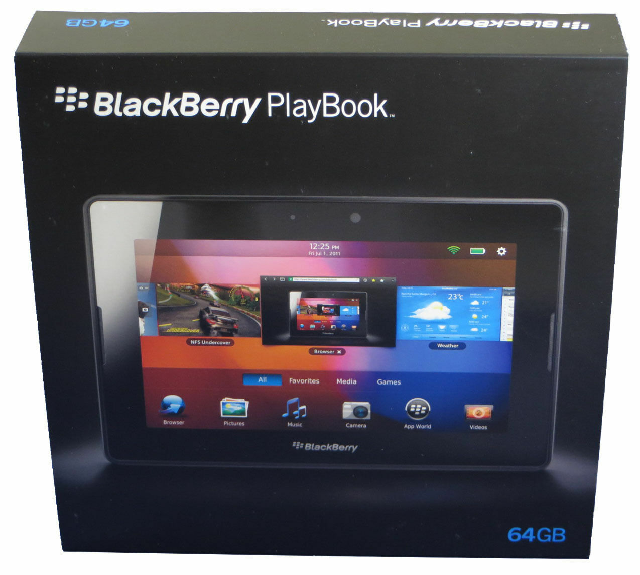 "Nib-64gb Rim Blackberry 7"" Playbook Tablet Wifi Prd-38548..."