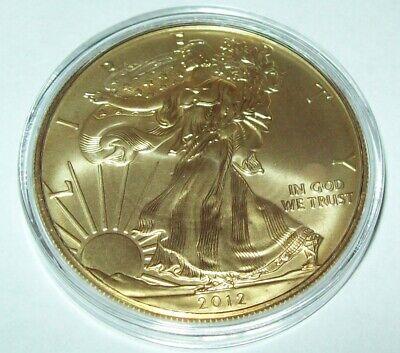 2012 24K Gold Gilded American Silver Eagle 1 Troy Oz..999 Fine One Dollar Coin