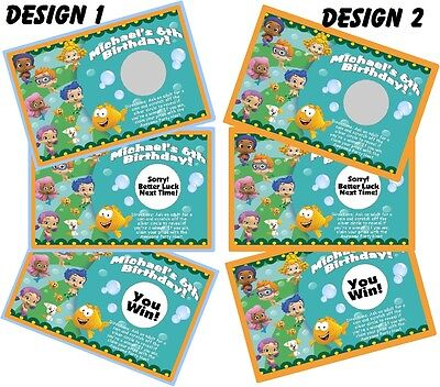 BUBBLE GUPPIES SCRATCH OFF OFFS PARTY GAME GAMES CARDS & BIRTHDAY FAVORS](Bubble Guppies Game)