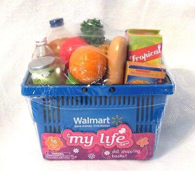 My Life WAL-MART Doll Shopping Basket Play JoJo Kitchen Food 18