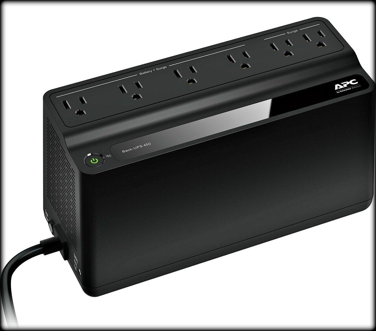 Apc - Back-ups 450va Battery Back-up System - Black