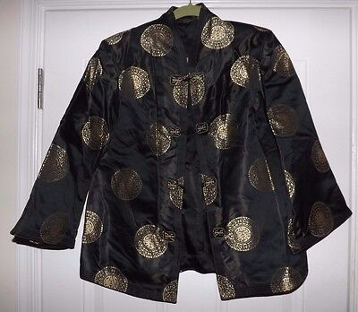Vintage Traditional Chinese Black and Gold JACKET