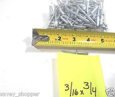 Pop Rivets 100 Pc. 316 X 34 Aluminum Head Steel Mandrel Pop Rivet