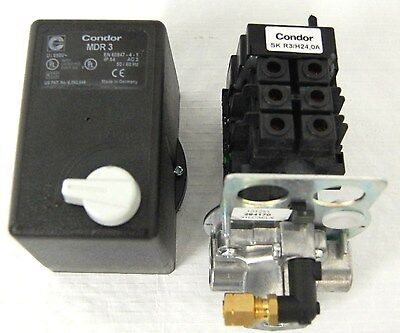Pressure Switchmagnetic Starter 3 Phase Condor Sk R3h24 Air Compressor Parts