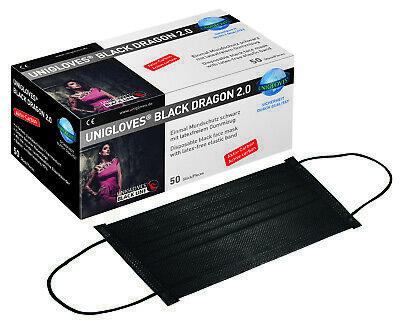 Medizinischer Mundschutz Maske Black Dragon 2.0 schwarz Atemschutz Carbonfilter