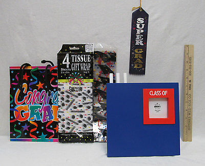 Graduation Picture Photo Frame Tissue Paper Gift Bag & Cellophane Goody Bags  - Graduation Gift Bags