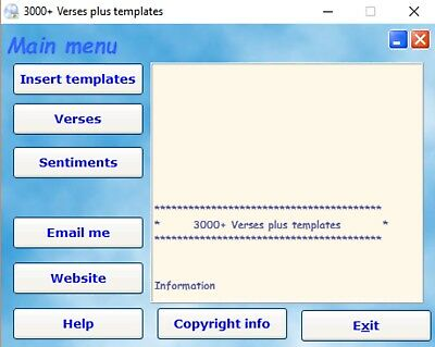 3000+ Verses & Insert Templates, ideal for beginners. Card making CD