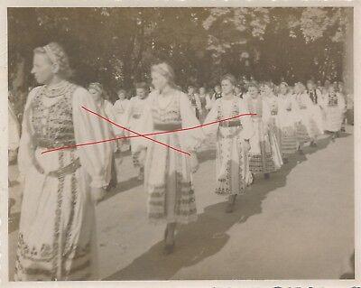 Nr.12323 Foto Wels Volksfest 1948 Siebenbürger Sachsen Tracht Frauen  O.Ö.