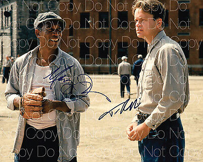 Shawshank Redemption Signed Freeman Robbins 8X10 Photo Poster Autograph Rp