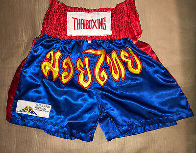 Thaiboxing Two Tone Nylon Satin Kickboxing K1 MMA Muay Thai Shorts S M L XL XXL