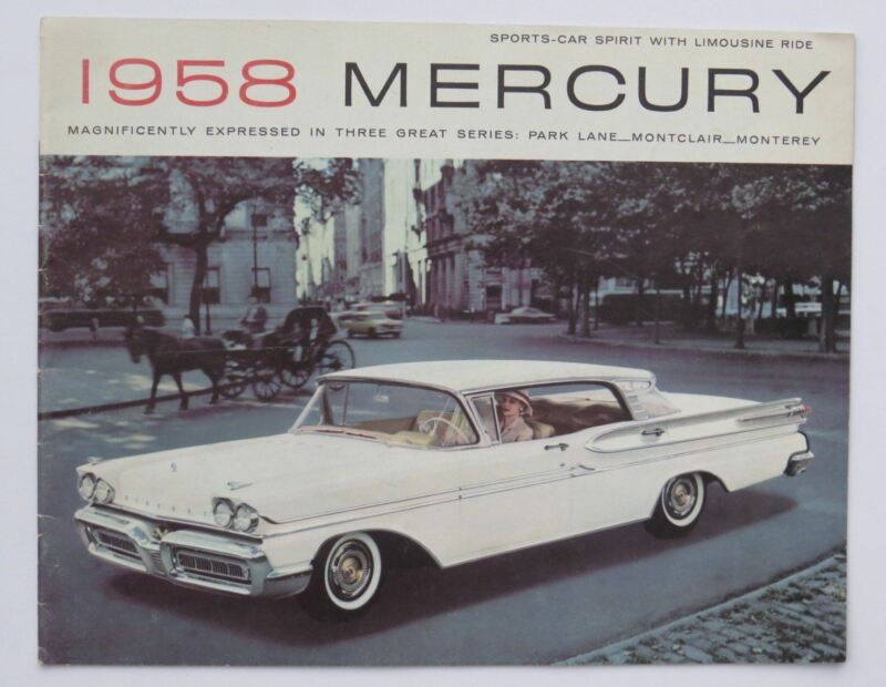 1958 Mercury Full Line Brochure Park Lane Montclair Monterey