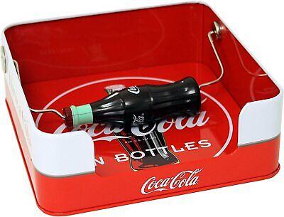 COCA-COLA Napkin Holder Red Tin Square With Coca-Cola Advertisement Vintage look