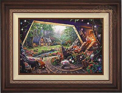 Thomas Kinkade Snow White and the Seven Dwarfs 18 x 27 S/N Canvas (Walnut