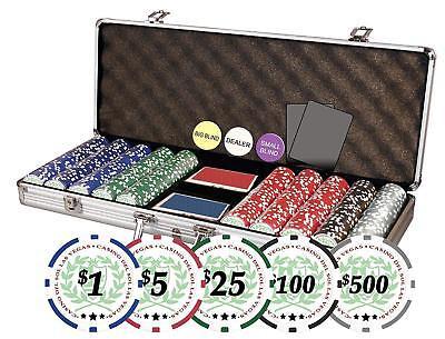 Da Vinci Professional Casino Del Sol Poker Chips Set with Case and 500 chips