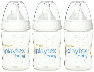 Playtex Simply Baby, Reduces Colic and Gas, 6 Oz Baby Bottles, 3 Count