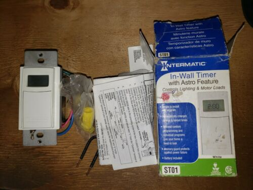 INTERMATIC ST01 DIGITAL IN WALL TIMER WHITE W/ASTRO FEATURE