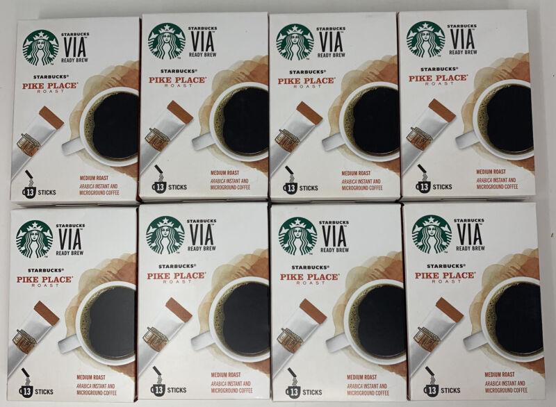 STARBUCKS VIA Pike Place Instant Medium Roast Coffee 104 ct Best By 12/4/20