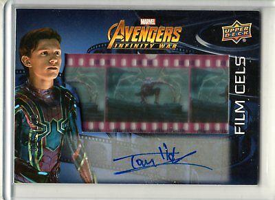 Avengers Infinity War Film Cels Autograph Tom Holland Spider-Man 018/100 UD SFC