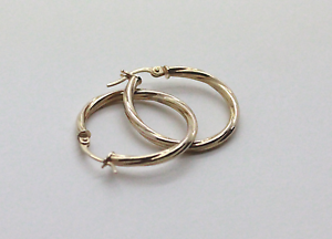 9ct Gold Hollow Hoop Earrings Mandurah Mandurah Area Preview