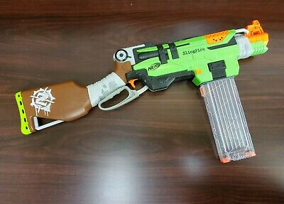 Nerf Zombie Strike SlingFire Blaster With Extended Clip