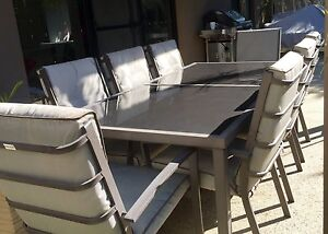Large 9 piece outdoor dining setting Torquay Surf Coast Preview