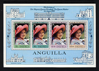ANGUILLA QE II 1980 Queen Mother 80th Birthday Mini-Sheet SG MS415 MNH